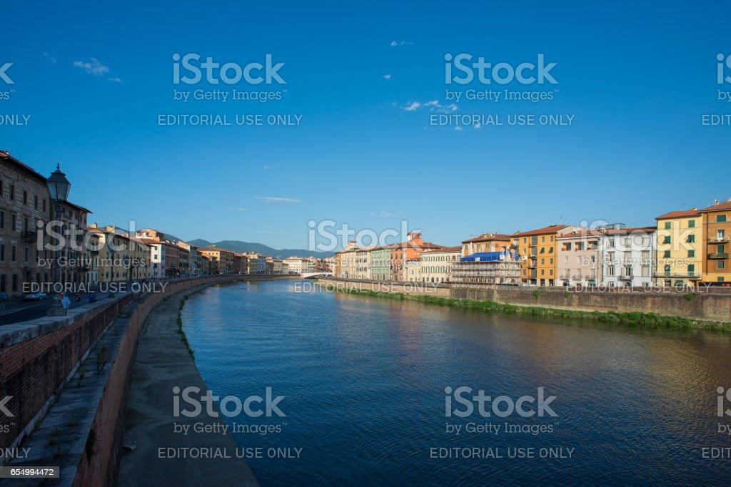 Pisa, Arno river stock photo