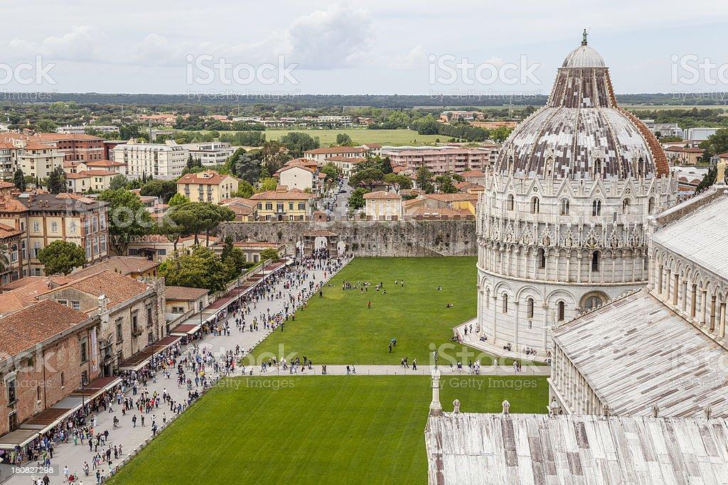 Pisa Baptistery and Cathedral, Tuscany Italy royalty-free stock photo