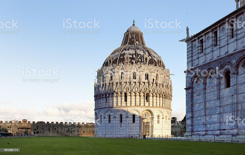 Pisa Baptistery, Tuscany Italy royalty-free stock photo