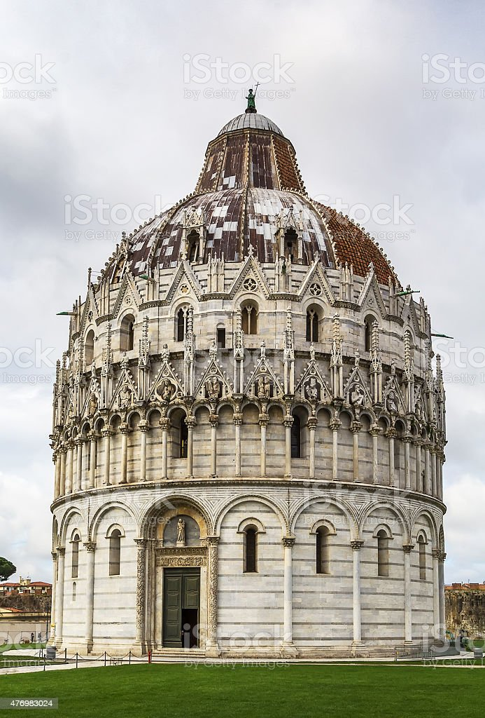 Pisa Baptistry, Italy stock photo