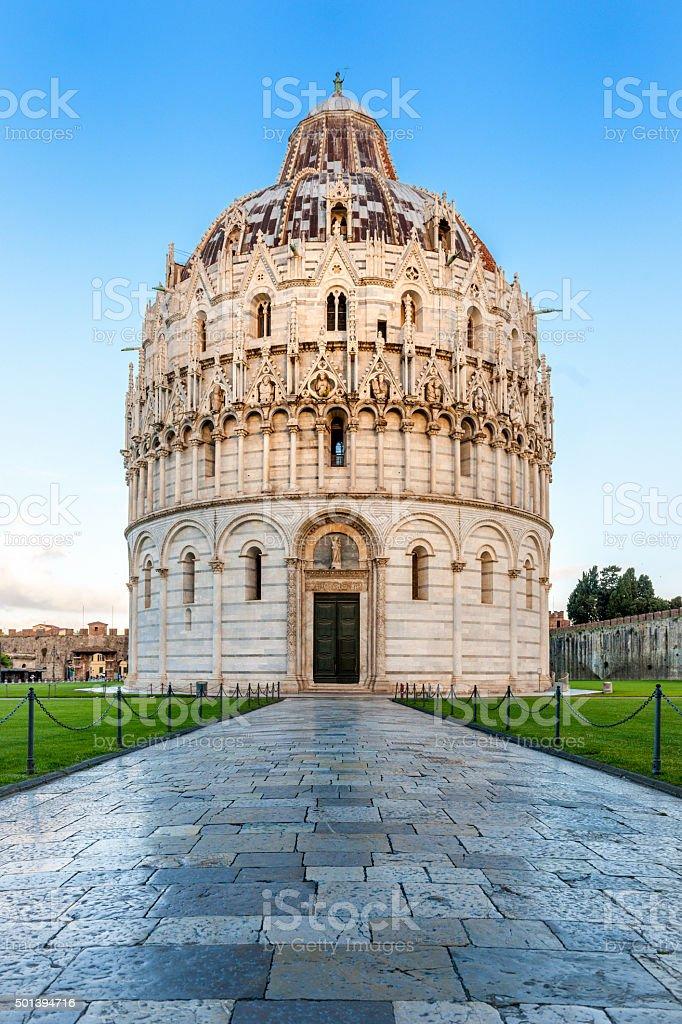 Pisa, Battistero di San Giovanni. stock photo