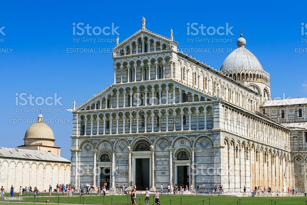 Pisa Cathedral and Camposanto Monumentale, Piazza del Duomo, Pisa, Italy. stock photo