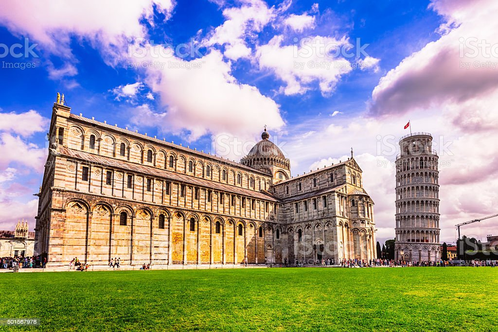 Pisa Cathedral at the square of miracles stock photo
