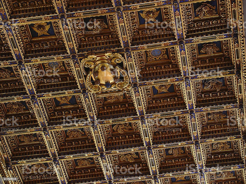 Pisa Cathedral   Golden Ceiling royalty-free stock photo