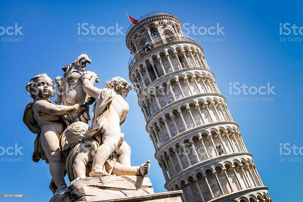 Pisa city stock photo