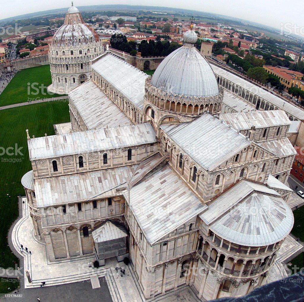 Pisa Duomo aerial view with blue sky stock photo