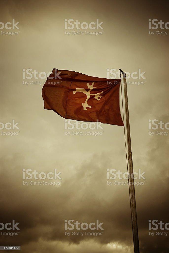 pisa flag stock photo