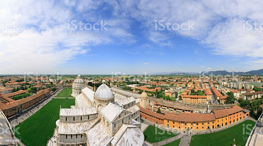 Pisa from the Leaning Tower royalty-free stock photo