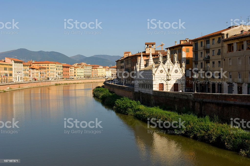 Pisa Italy on the River Arno royalty-free stock photo