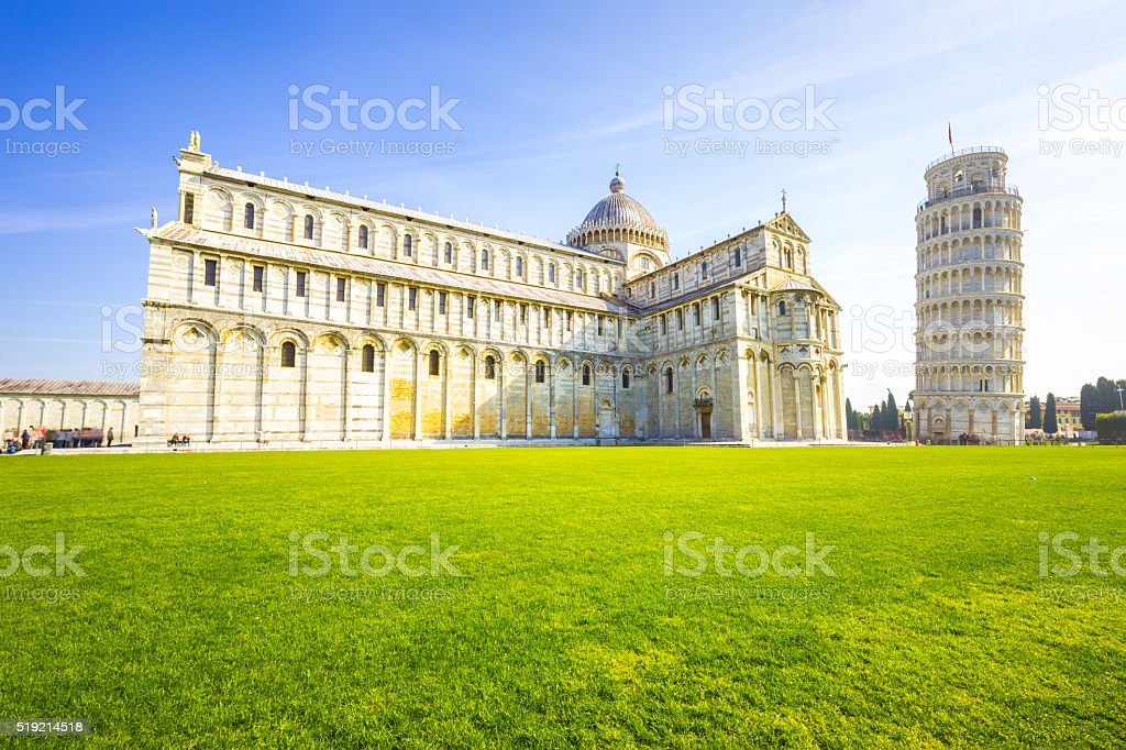 Pisa, Italy - The leaning tower stock photo