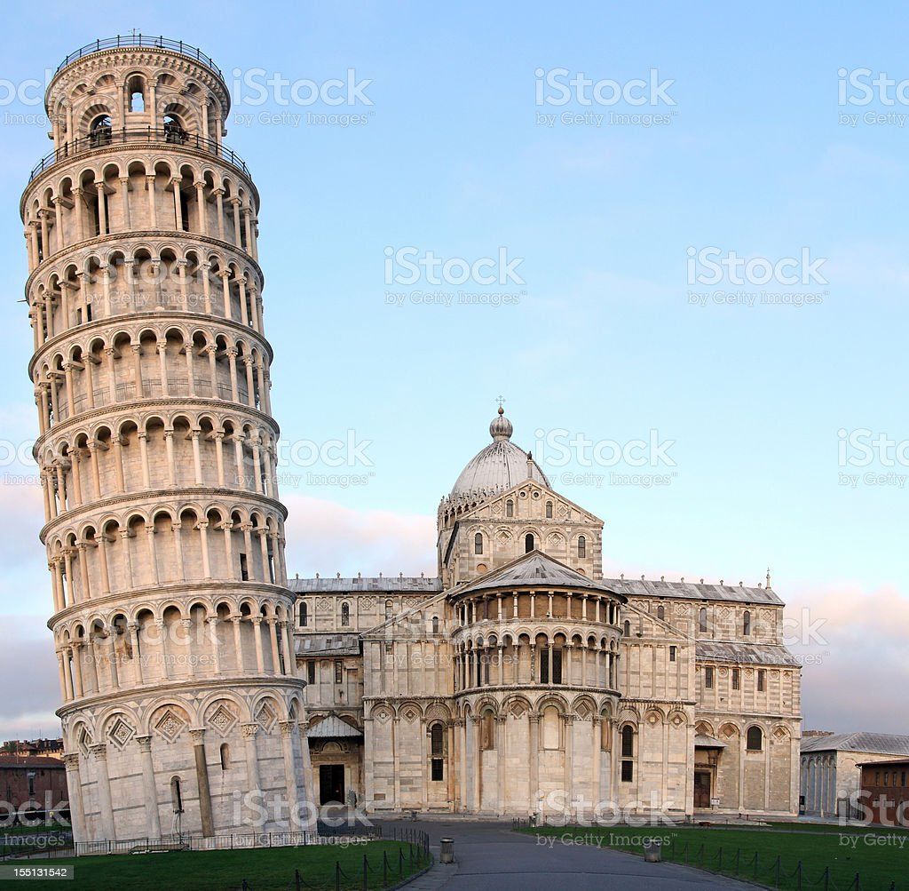 Pisa - Leaning Tower and Cathedral royalty-free stock photo