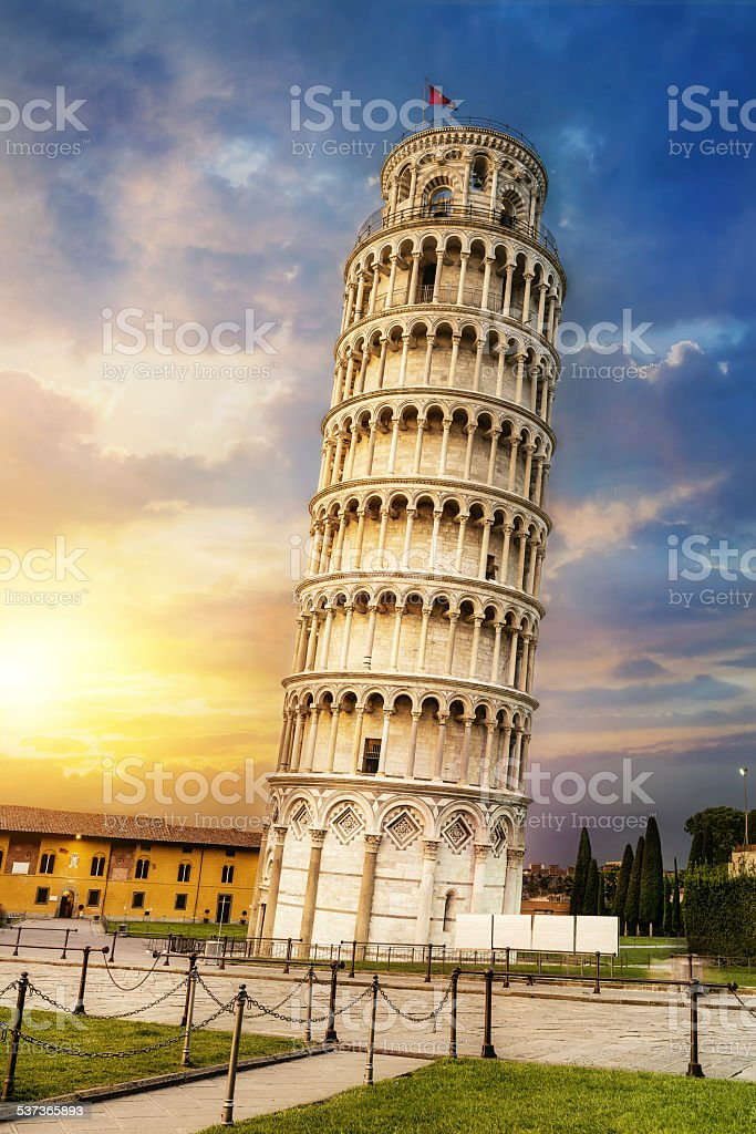Pisa leaning tower, Italy stock photo