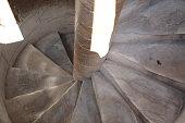 Pisa Leaning tower stairs, Pisa, Italy