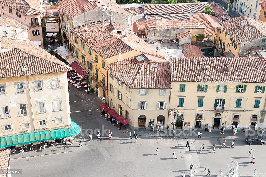 Pisa Old Town Center Cityscape stock photo