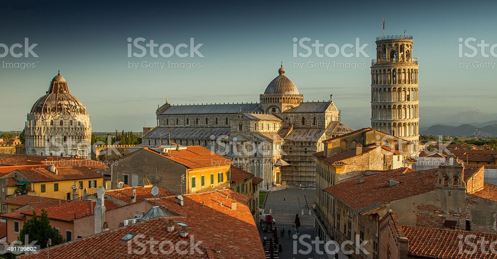 Pisa Rooftops stock photo