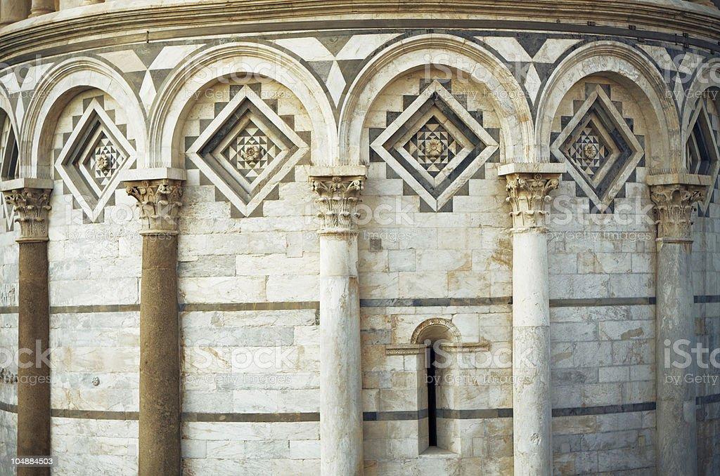 Pisa tower detail. royalty-free stock photo