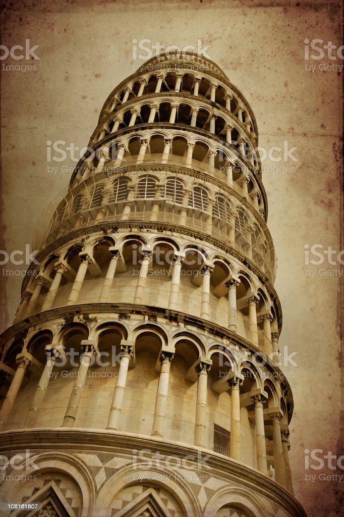 pisa tower - grunge royalty-free stock photo