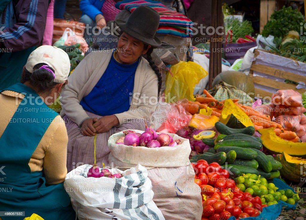 Pisac Market3 stock photo