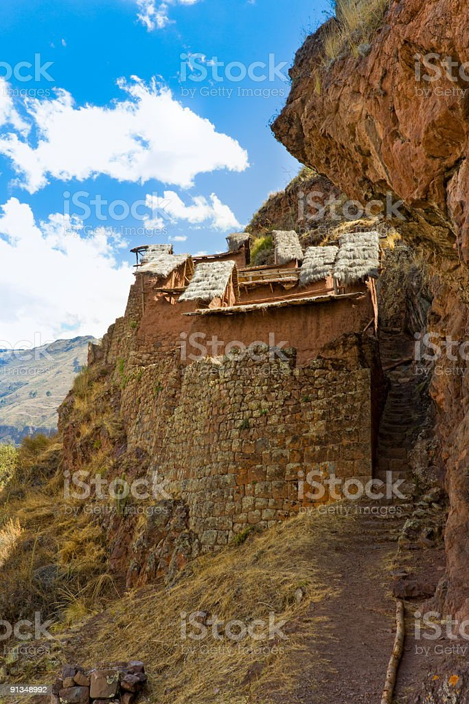 Pisac ruins royalty-free stock photo