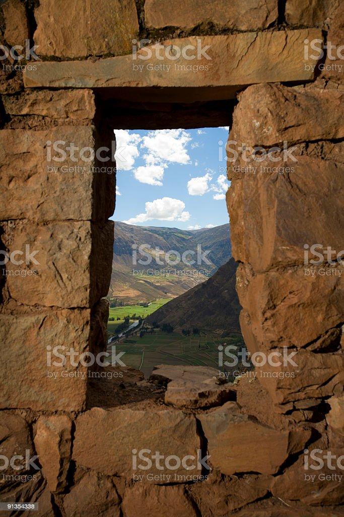 Pisac ruins royalty-free stock photo