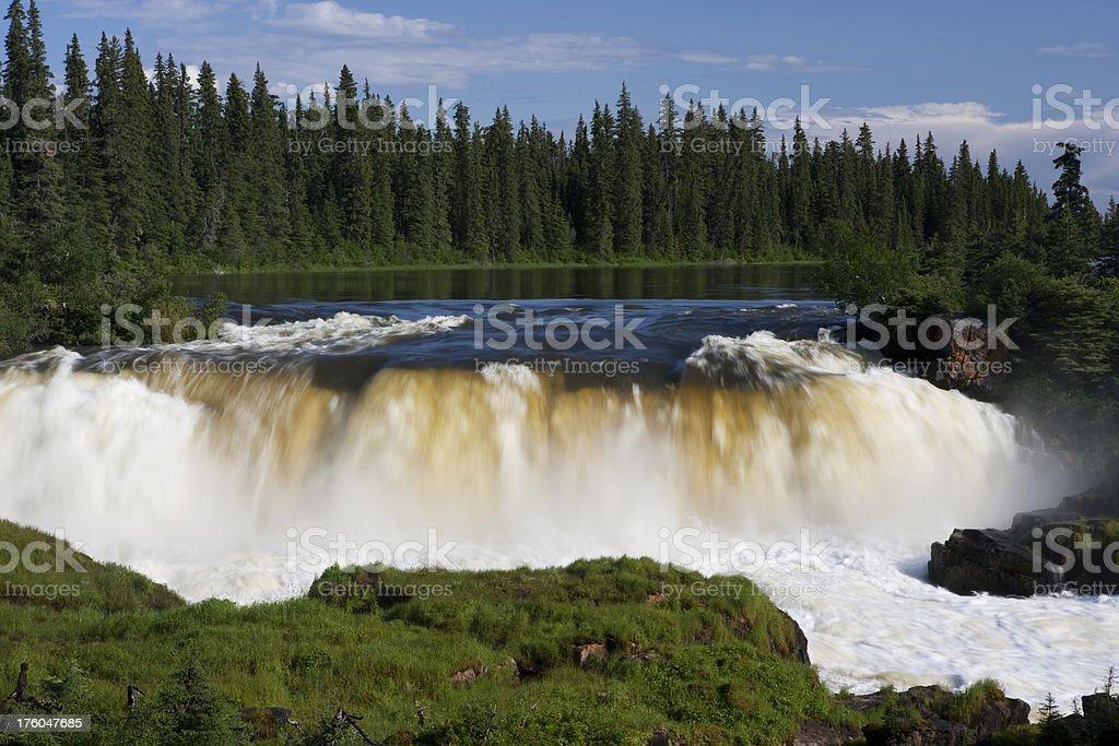 Pisew Falls Manitoba royalty-free stock photo