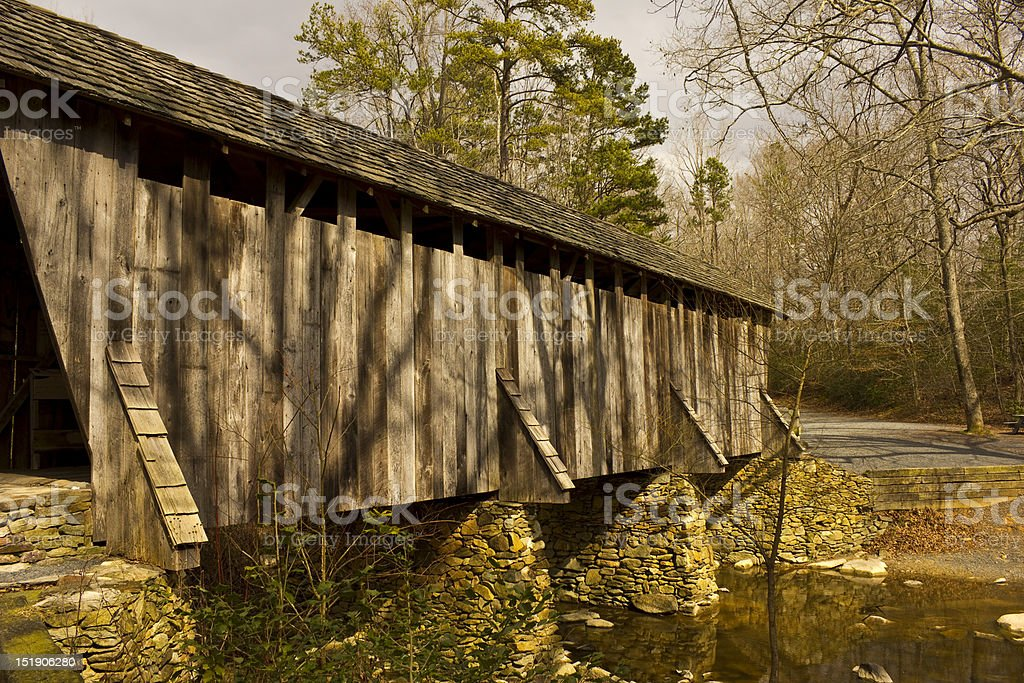Pisgah Covered Bridge stock photo
