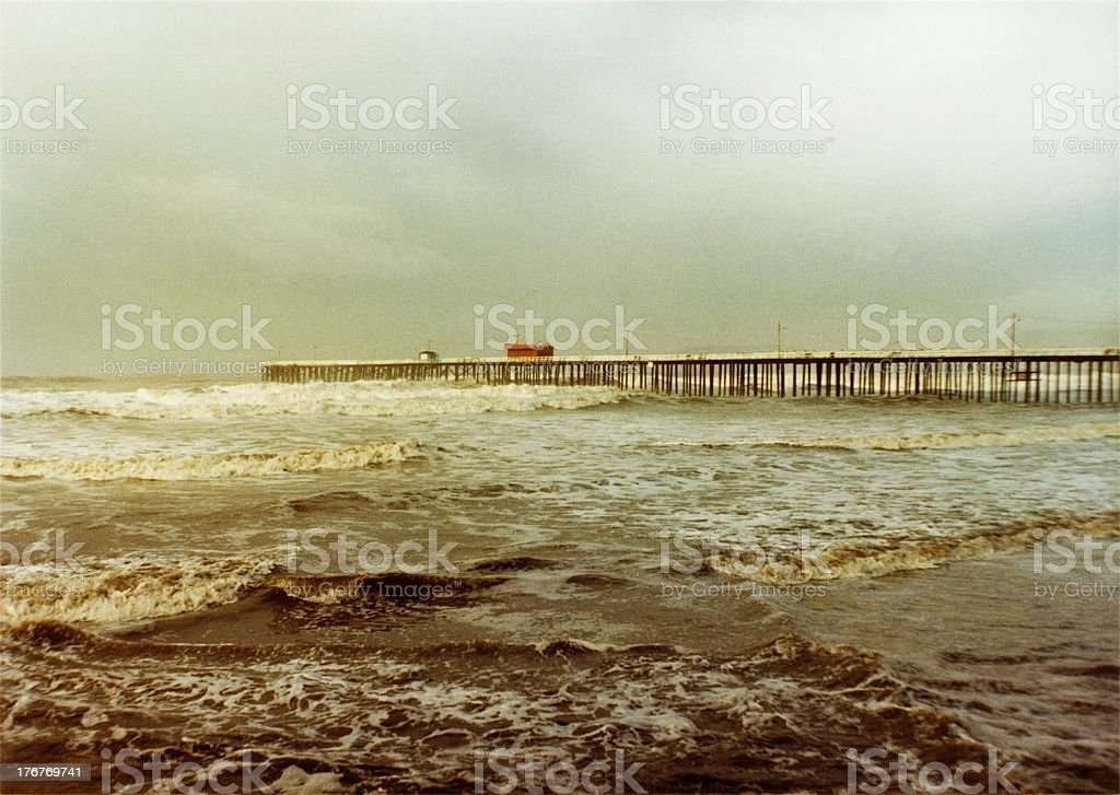 Pismo Beach and the Pier stock photo