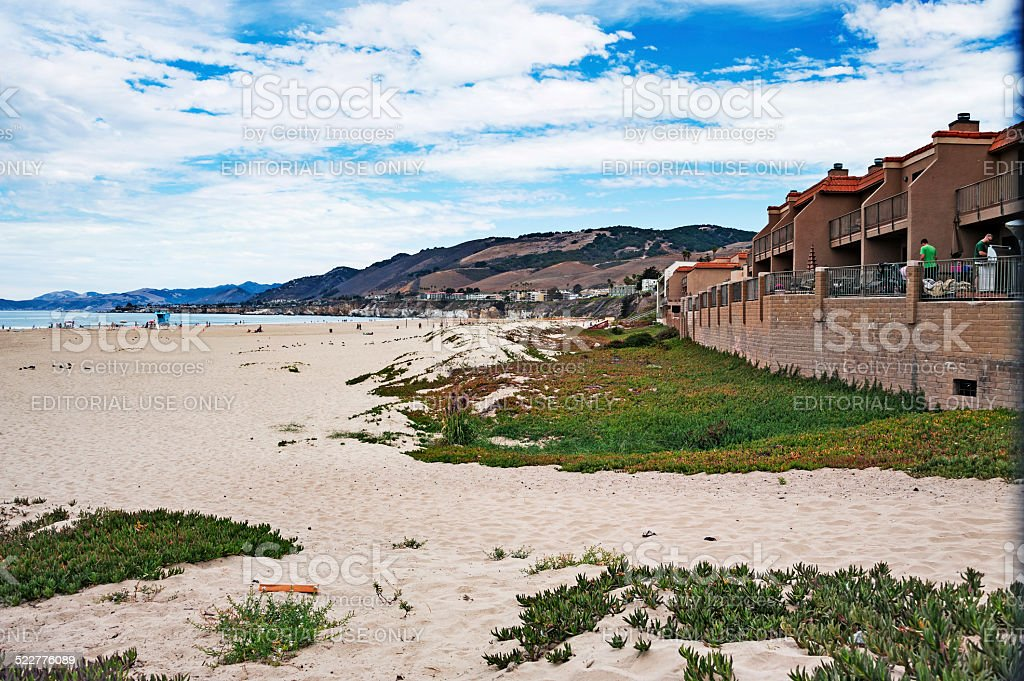 Pismo Beach Condos with a view stock photo