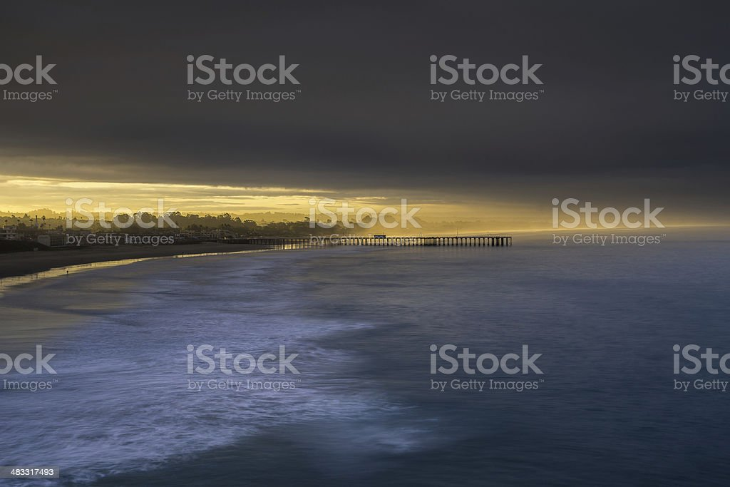 Pismo Beach Pier stock photo