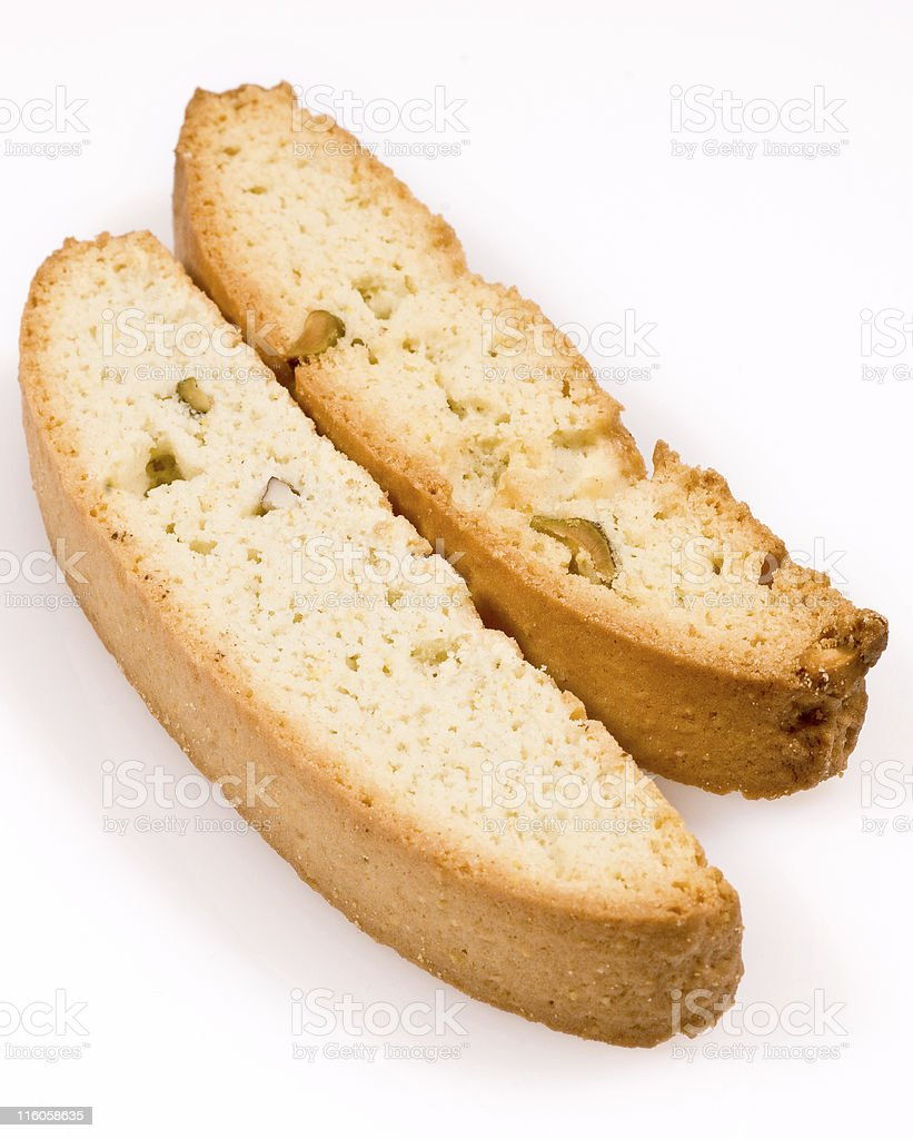 Pistachio biscotti royalty-free stock photo