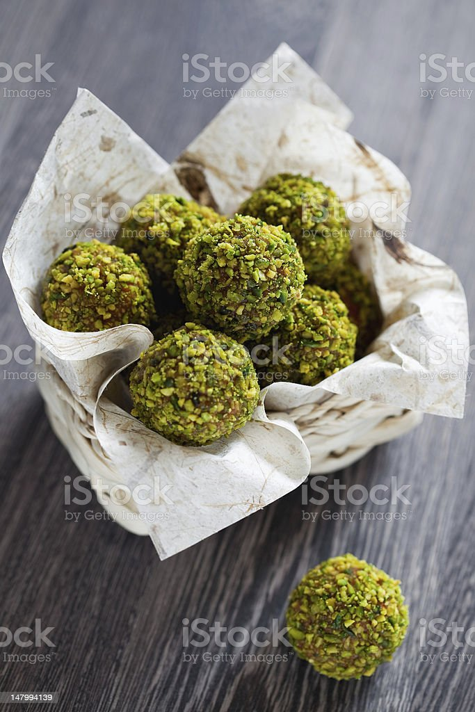 Pistachio candy stock photo