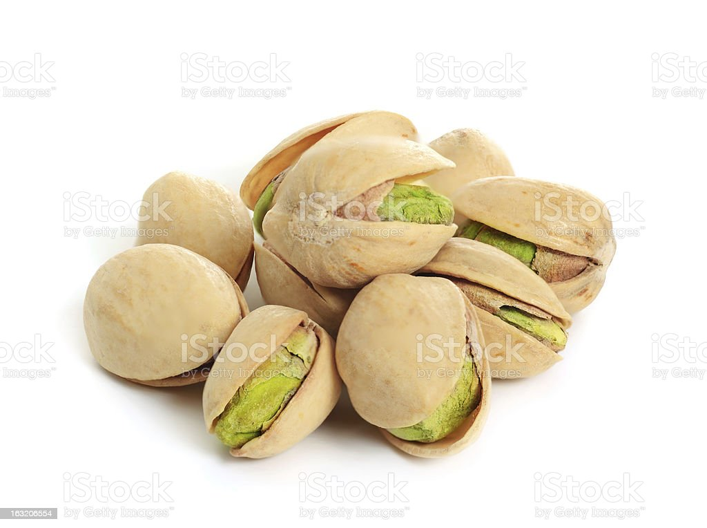 Pistachio isolated royalty-free stock photo