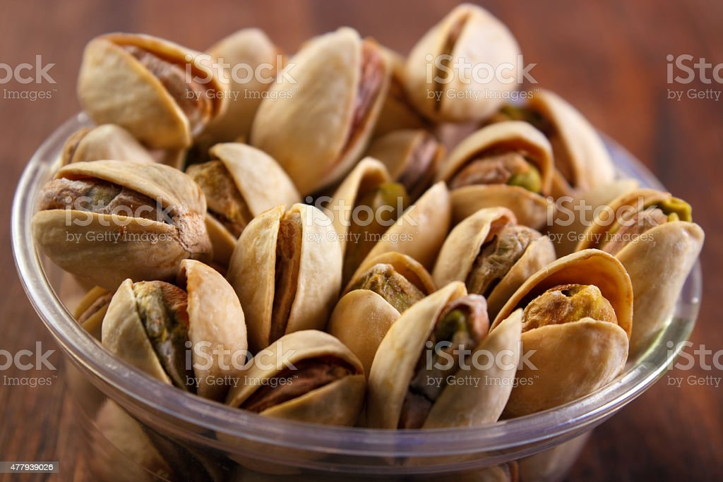 Pistachio nuts closeup royalty-free stock photo