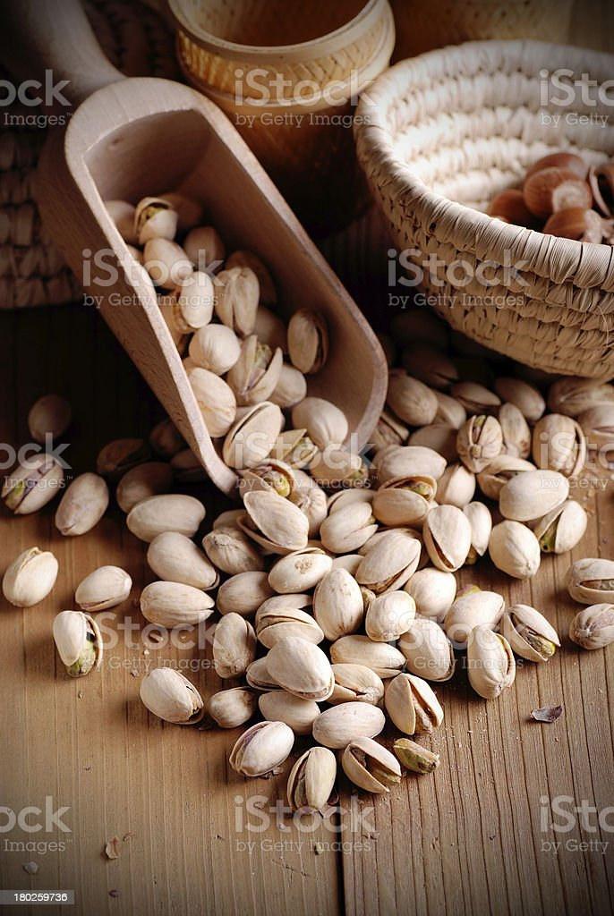 pistachio on the table royalty-free stock photo