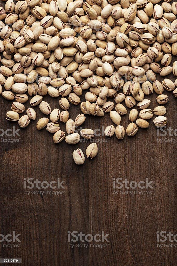 pistachios background stock photo