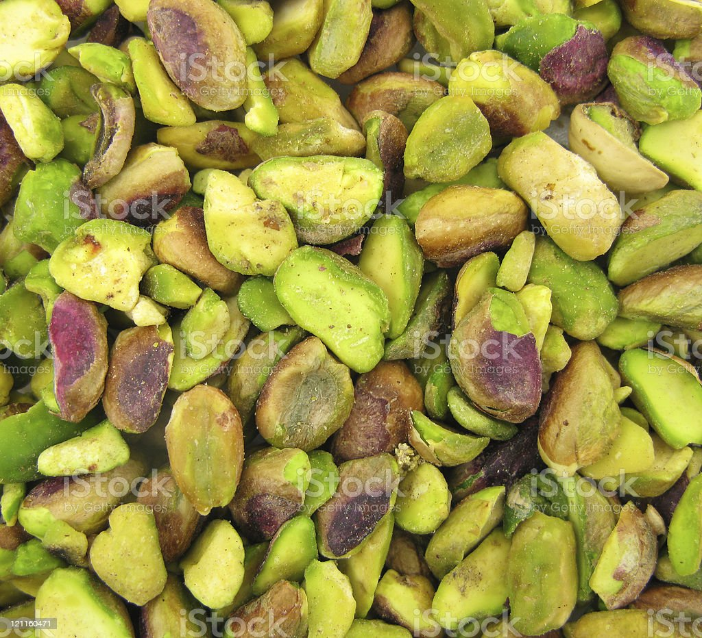 Pistachios green stock photo