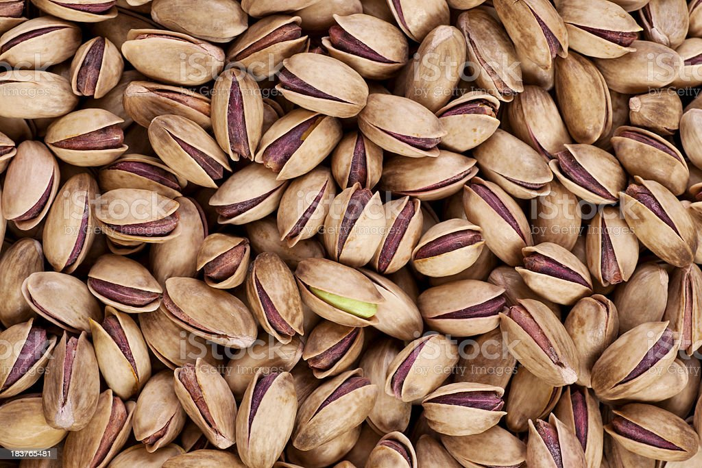 Pistachios in shell stock photo