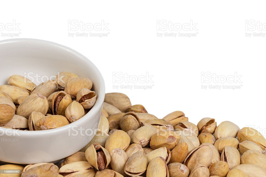 pistachios in small bowl royalty-free stock photo
