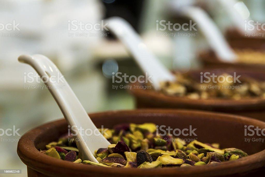 Pistachios jar royalty-free stock photo