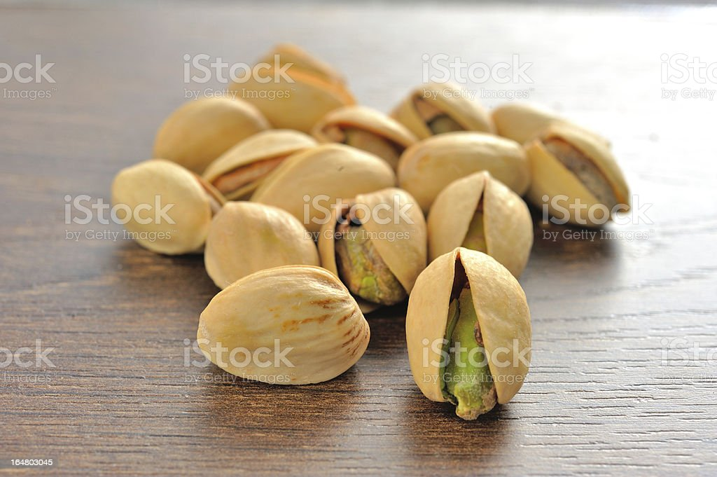 Pistachios salty shallow depth of field royalty-free stock photo