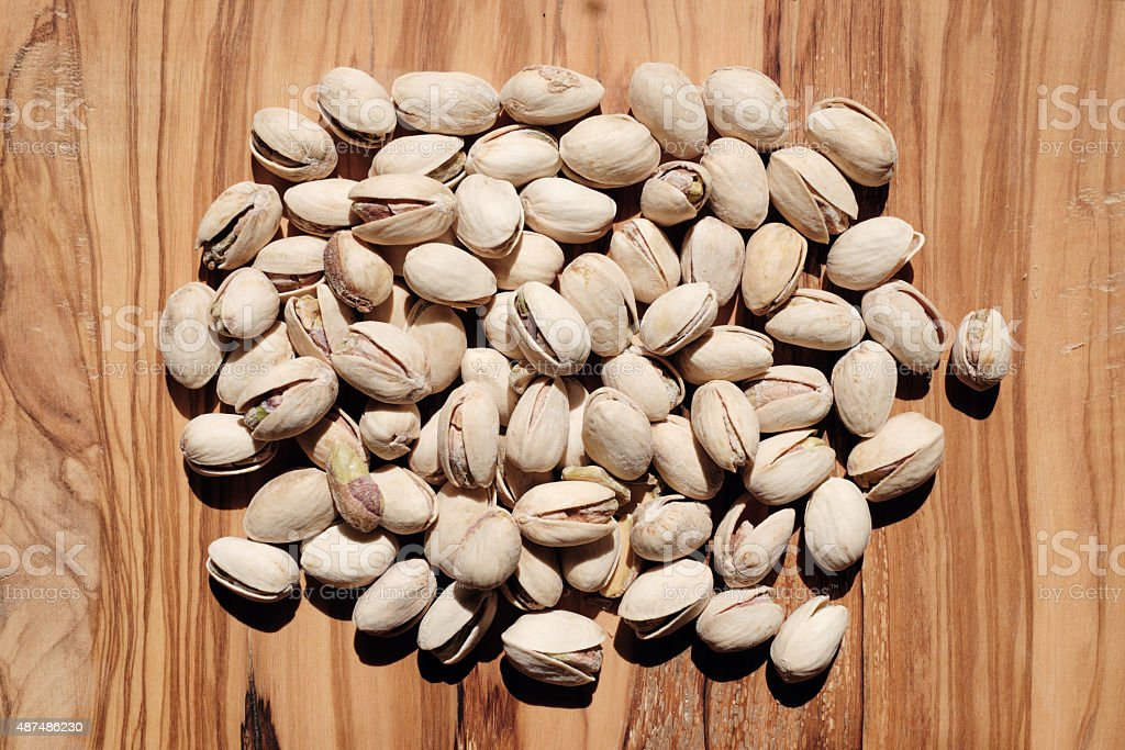 Pistachios, toasted and salted stock photo