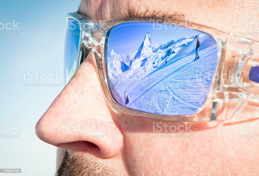 Piste Reflection royalty-free stock photo
