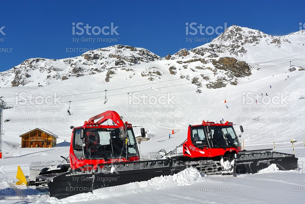 Pistenbully or Snow Groomer royalty-free stock photo