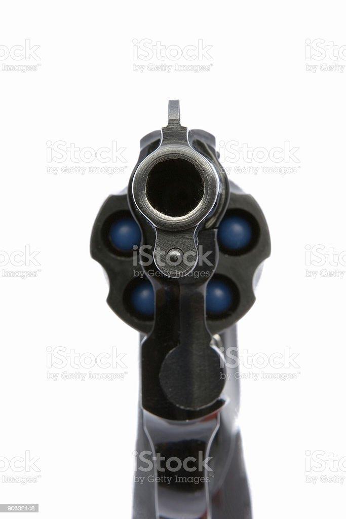 Pistol aiming at you royalty-free stock photo