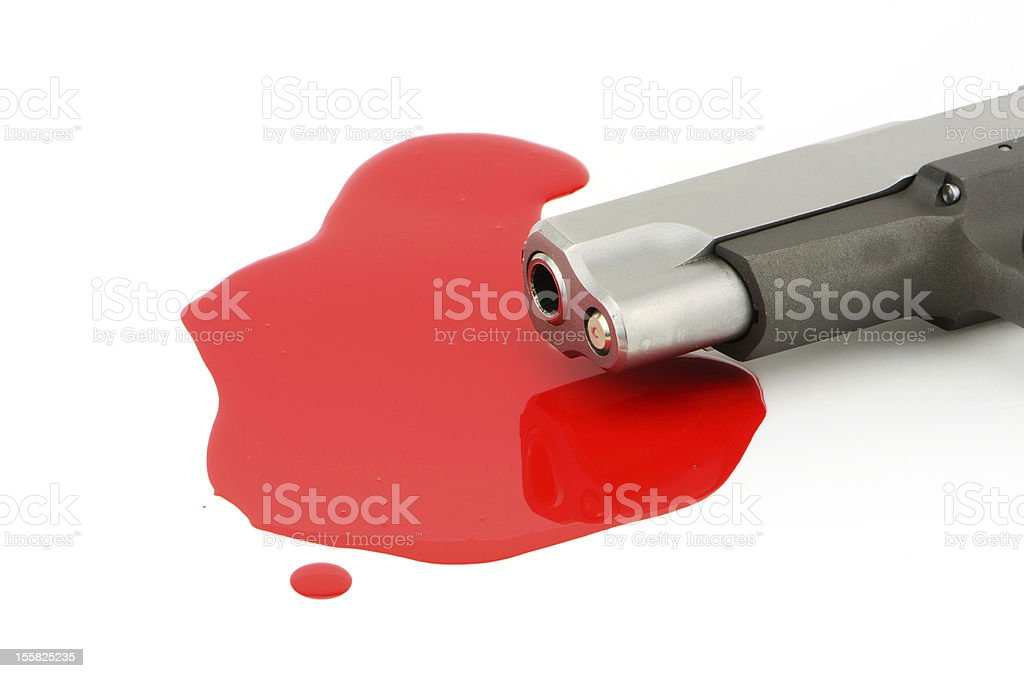 Pistol and Blood royalty-free stock photo