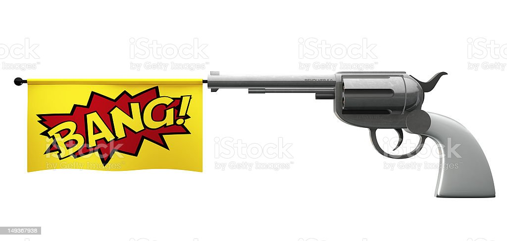 Pistol Bang stock photo