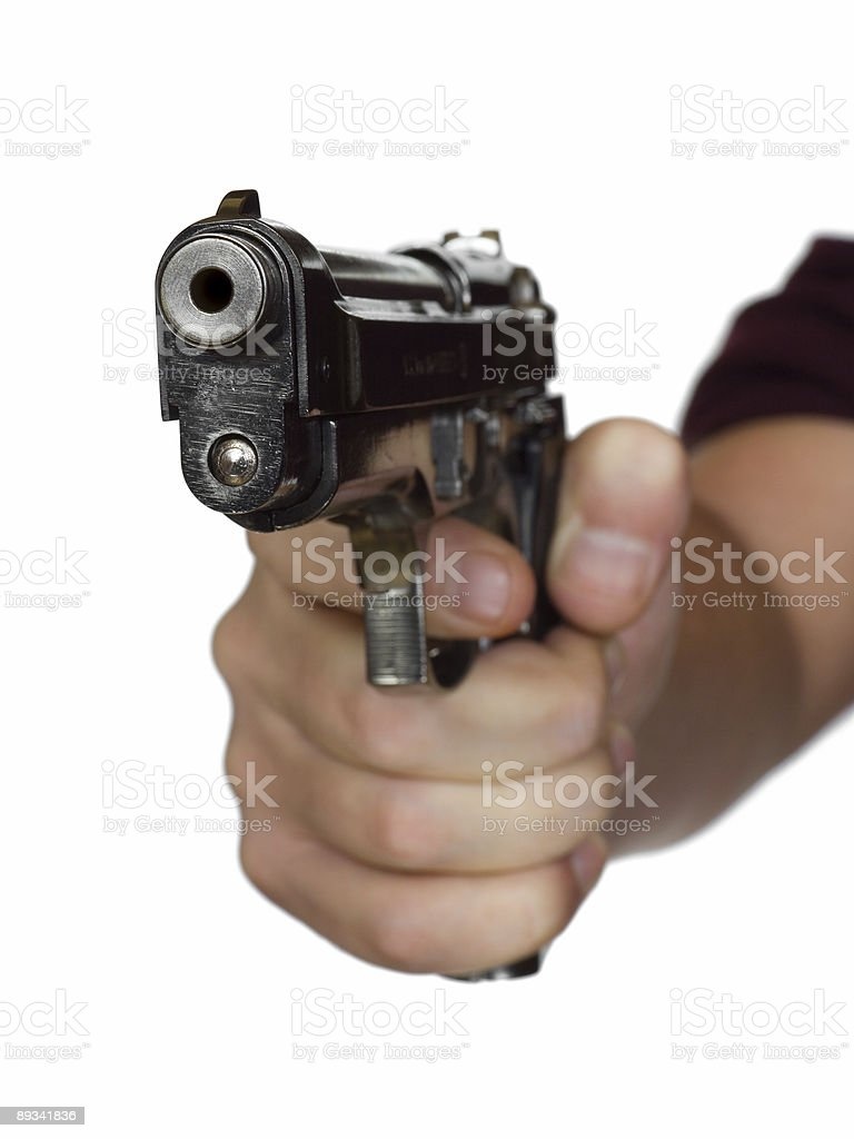Pistol in hand royalty-free stock photo