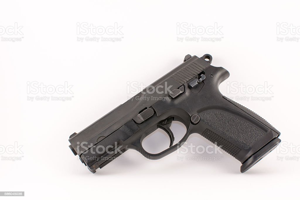 Pistol Left stock photo