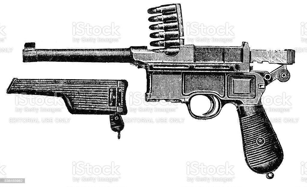 Pistol Mauser stock photo