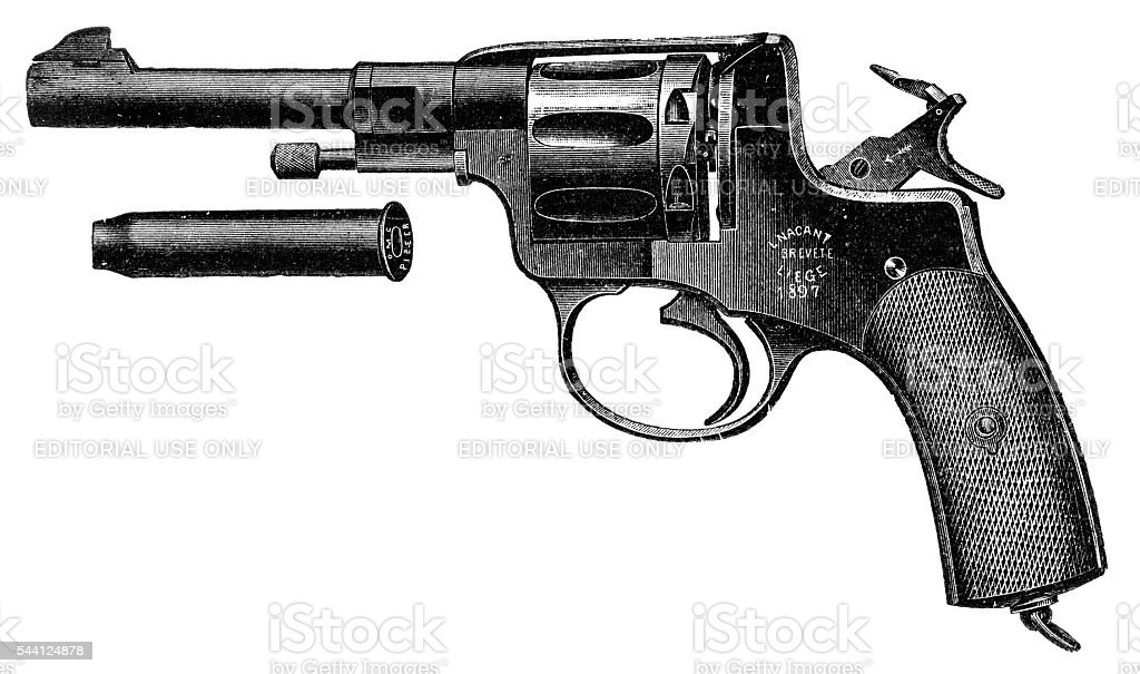 Pistol Nagant Revolver stock photo